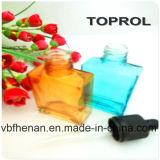 frascos 30ml de vidro quadrados verdes para o E-Líquido e o petróleo essencial