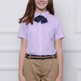Uniforme scolaire fait sur commande de coton, chemise élevée d'uniformes scolaires