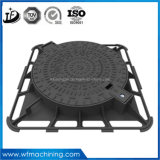 2016 최신 판매 Qt500-7 사각 또는 장방형 연성이 있는 철 맨홀 뚜껑, En124 맨홀 뚜껑, 무쇠 맨홀 뚜껑