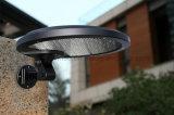 Lâmpada ao ar livre da segurança sem fio brilhante do diodo emissor de luz da luz 56 da parede do sensor da potência solar