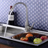 Faucet de bronze da cozinha da única mão do estilo de Europa da alta qualidade