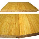 Suelo de bambú sólido tejido hilo natural