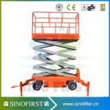 500kg 10m Plataforma de elevación hidráulica desmontable tijera