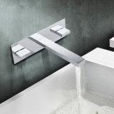 Palanca dual de la fuente de China encubierta en grifo del lavabo de la pared