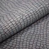マットの表面のスネークスキンパターン人工的なPU袋のハンドバッグの革