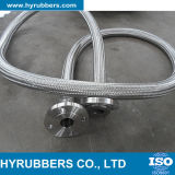 Boyau à haute pression de métal flexible de fil d'acier inoxydable de connexion de bride de boyau