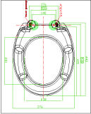 Siège des toilettes neuf d'uF de type de fonction proche douce