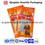Saco plástico ereto impresso costume do empacotamento de alimento do cão do auto