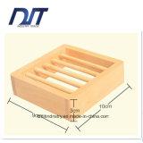 Творческая квадратная древесина сделала коробку мыла для ванной комнаты