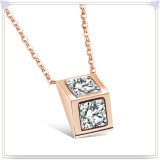 Bijou en cristal de collier pendant de mode de bijou d'acier inoxydable (NK715)