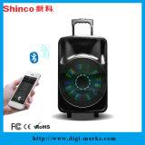 Altavoz al aire libre de alta potencia del Portable de Bluetooth del sonido de la danza cuadrada de 15 pulgadas