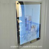 Caixa leve de anúncio magro mágica do espelho interno do diodo emissor de luz