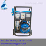 Producto de limpieza de discos de alta presión con el motor impulsor de la polea