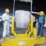 Тележка переноса уполовника тяжелой нагрузки используемая в металлургии на рельсах