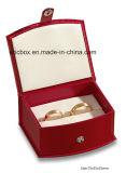 Caixa de presente vermelha da jóia do cartão do papel de couro do projeto Jy-Jb108 novo