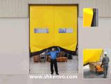 De alta velocidad autorreparadores de la tela del PVC ruedan para arriba la puerta para el almacén
