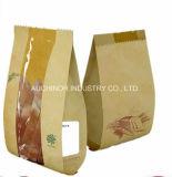 La alta calidad no tóxica se levanta bolsos del pan del papel de Kraft con la ventana
