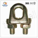 Clip malléable galvanisé de câble métallique de l'acier DIN 741