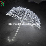 Weihnachten Across Street LED Decoration Motif Lights 3D Umbrella