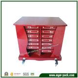 Grande caixa de armazenamento de madeira personalizada para jóias