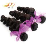 Capelli allentati di Dyeable dell'onda dei capelli vietnamiti neri naturali del Virgin