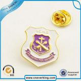 주문을 받아서 만들어진 회사 로고 고품질 금속 접어젖힌 옷깃 Pin