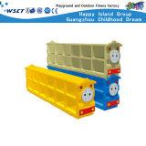 Los muebles plásticos del jardín de la infancia embroman la cabina de almacenaje (HC-4708)