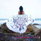 Toalla 100% de playa impresa círculo redondo del algodón con alta calidad