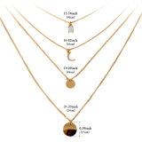 Halsband van de Tegenhanger van de Nauwsluitende halsketting van de Maan van de Daling van het Water van het Kristal van het bergkristal Multilayer