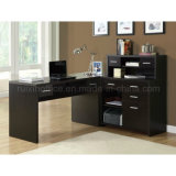 L Shaped Corner Home Office Desk com Hutch (Z160707-3F)