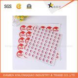 Anti-Falsificación de etiquetas engomadas de encargo del holograma del papel de seguridad de la impresión vacía de la escritura de la etiqueta