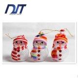 Ornamentos pendientes del muñeco de nieve de la Navidad del regalo del boutique del muñeco de nieve ligero de la Navidad del LED