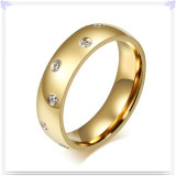 Anillo cristalino del acero inoxidable de los complementos de la joyería (SR147)