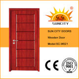 Portes en bois de bois de construction de prix bas de vente d'usine (SC-W023)