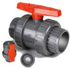 Kunststoff PVC Echte Doppel Union Kugelhahn