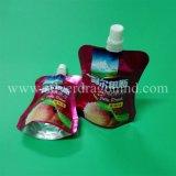 Bolso de pie modificado para requisitos particulares de la bolsa con el canalón para el embalaje de la leche