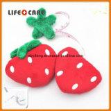 Bande de mesure de cadeau drôle de tissu de forme de fraise de promotion