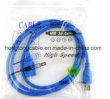 Varón de alta velocidad del cable de extensión del USB 3.0 del azul a la hembra