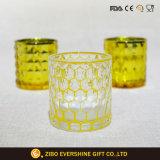 Supporto di candela di vetro di struttura del LED