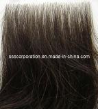 Unité centrale de Remy Human Hair Clear (polyuréthane) Base Injection Toupee