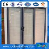 La alta calidad crea la ventana de cristal de aluminio de desplazamiento para requisitos particulares del marco con el mosquito