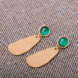 Simple Temperament Opal Earrings Alloy
