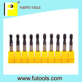 Size padrão Tungsten Carbide Ball Nose Endmill para Copper Milling
