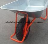 亜鉛でメッキされた皿Wb6404hの一輪車