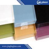Wit, Rood, Donker, Blauw Glanzend Geschilderd Glas