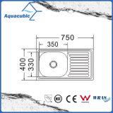 Boven de TegenGootsteen van de Keuken van Moduled van het Roestvrij staal (acs-7540)