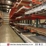 O carrinho cheio do metal da certificação desmonta a cremalheira do modilhão do armazenamento