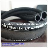 Tuyau en caoutchouc hydraulique tressé d'acier inoxydable de R2at/2sn