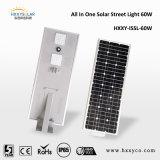 Ce RoHS IP65 5W-100W todo en una luz de calle solar del sensor LED para la carretera, jardín, área pública