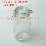 シール・ガラスのふた、貯蔵容器が付いている1550ml透過食糧ガラス瓶